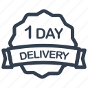 day, delivery, guarantee, label, one, 1