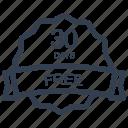 days, free, guarantee, label