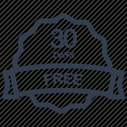 days, free, guarantee, label icon