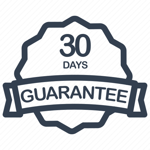 days, guarantee, label icon