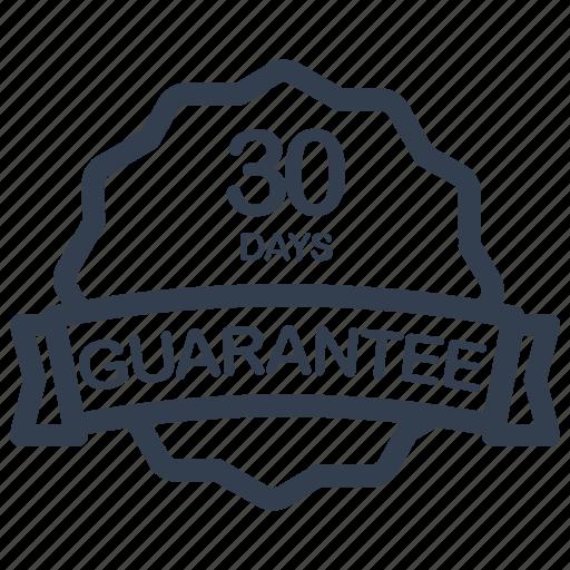 Guarantee, days, label icon