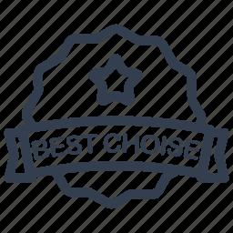 best, choise, guarantee, label icon