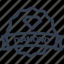 diamond, guarantee, label