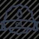 guarantee, label, oil