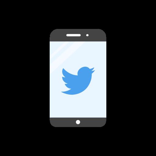 bird, mobile, twitter, twitter logo icon