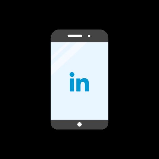 linkedin, linkedin logo, mobile, website icon