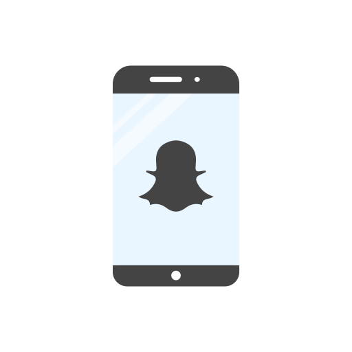 bell, mobile, phone, snapchat logo icon
