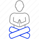 guru, lotus, position icon