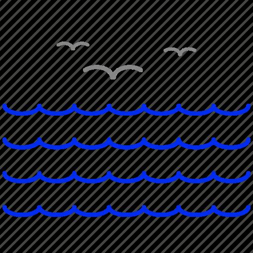ocean, sea, water icon