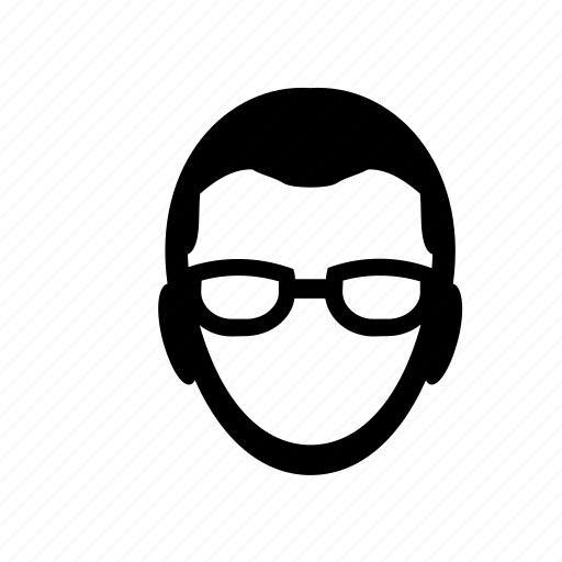face, glasses, guy, male, man, portrait, user icon