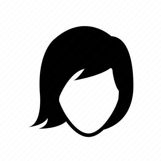 face, female, girl, portrait, short hair, user, woman icon