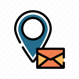 address, email, location, mail, message, postal, receive icon