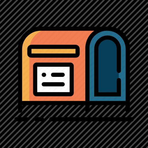 box, inbox, mail, mailbox, post, postal, postbox icon