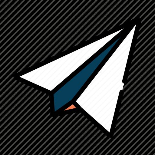 airplane, delivery, paper, plane, postal, send, sent icon