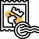 stamp, postal, letter, mailing, seal