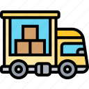 delivery, truck, cargo, shipping, logistic