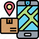 destination, address, shipment, tracking, route