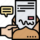 letter, correspondence, mail, communication, document