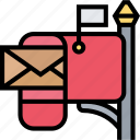 mailbox, address, mail, communication, receive