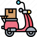 scooter, motorcycle, delivery, service, vehicle