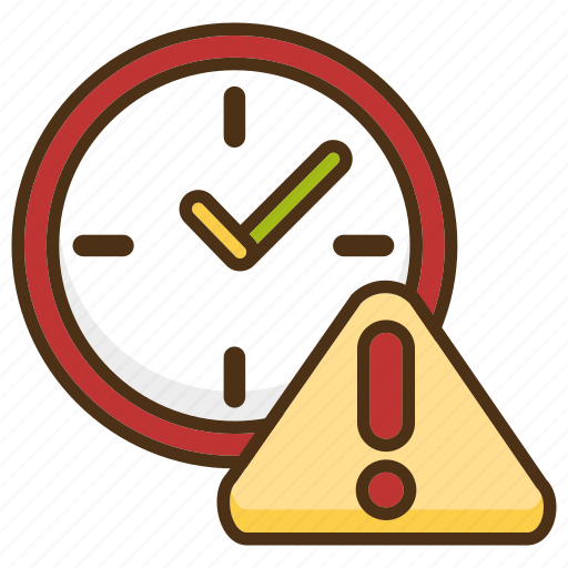 Clock Deadline Delay Delivery Due Date Shipping Time Icon