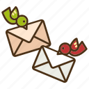 bird, delivery, envelope, letter, mail, messenger, post icon