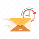 delivery, express, fast, letter, mail, send, service icon