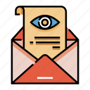 check, delivery, inform, inspect, mail, postal, service icon