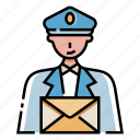delivery, mail, mailman, occupation, postman, profession, service