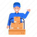 cargo worker, logistic mover, delivery, parcels, logistics