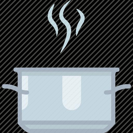 cooking, hot, kitchen, pot, restaurant, steam, yumminky icon