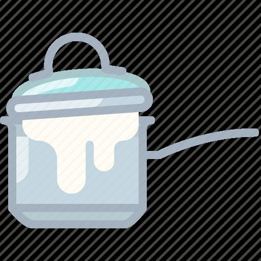 boil, cooking, foam, kitchen, lid, pot, yumminky icon