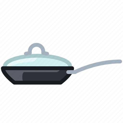 cooking, frying, kitchen, lid, pan, restaurant, yumminky icon