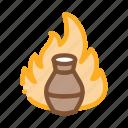 ceramics, clay, fire, kiln, outlie, pottery, vase