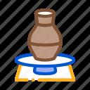 ceramics, kiln, pottery, spatula, vase, wheel