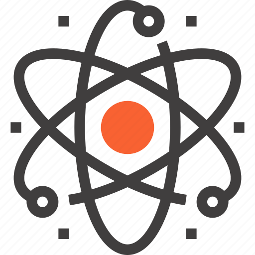 atom, energy, industry, nuclear, physics, power, science icon