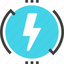 charge, electric, electricity, energy, industry, power, renewable icon