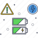 battery, charging, electricity, energy, power icon