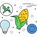 bio, biomass, eco, energy, fuel, green, power icon
