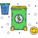 biomass, compost, recycling, trash, waste icon