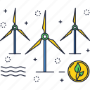 energy, power, renewable, source, turbine, wind icon
