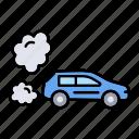 air, car, gas, pollution, smoke
