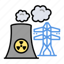 eco, ecology, energy, nuclear, power, powerplant icon