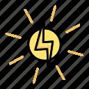 energy, power, sun, solar icon