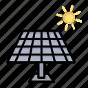 solar, eco, energy, renewable, panels, electricity icon
