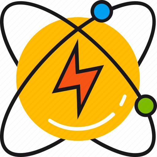 atom, electricity, energy, light, lightning, nuclear, power icon