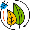 biomass, eco-friendly, electricity, energy, environment, leaves, socket icon