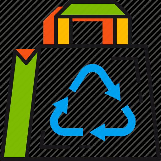 bag, eco, ecology, environment, protection, renewable, save icon