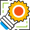 eco, ecology, energy, light, sun, technology icon