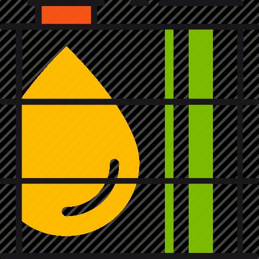 barrel, drop, fuel, gasoline, industry, oil, petrol icon
